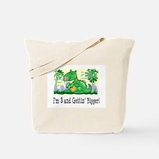 I'm 3 Dinosaur Birthday Tote Bag