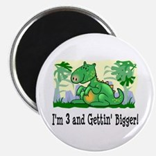 I'm 3 Dinosaur Birthday Magnet