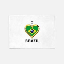 I Heart BRAZIL 5'x7'Area Rug