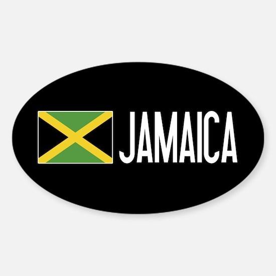 Jamaica: Jamaican Flag & Jamaica Sticker (Oval)