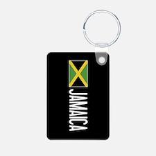 Jamaica: Jamaican Flag & J Keychains