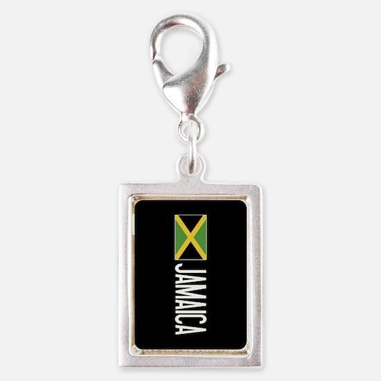 Jamaica: Jamaican Flag & Jam Silver Portrait Charm