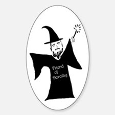 Gay Wizard Oval Decal