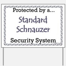 Schnauzer Security  Yard Sign
