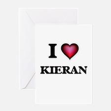 I love Kieran Greeting Cards