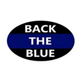 Back the blue Oval Car Magnets