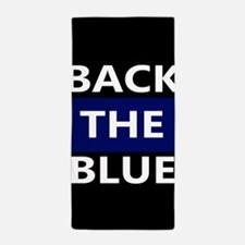 BACK THE BLUE Beach Towel