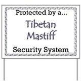Tibetan mastiff warning signs Yard Signs