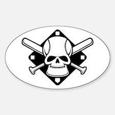 Baseball Buccaneer Oval Decal