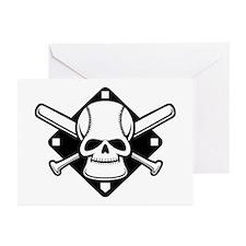 Baseball Buccaneer Greeting Cards (Pk of 10)
