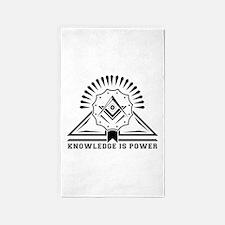 Knowledge is powers-Modern Geometric Desi Area Rug