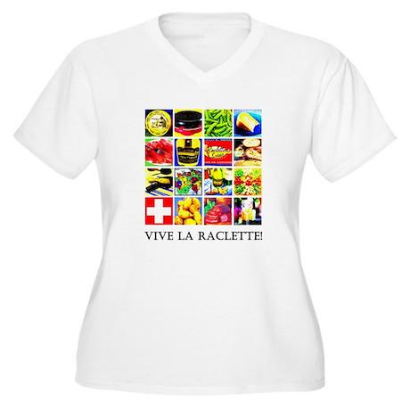 Vive la Raclette! Women's Plus Size V-Neck T-Shirt