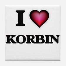 I love Korbin Tile Coaster