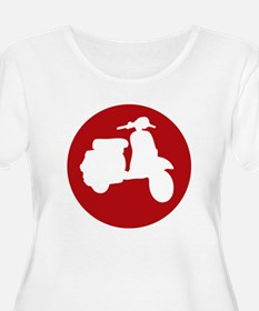 Red Scooter Dot Plus Size T-Shirt
