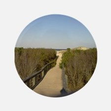 """Long Board walk to Ocean on 3.5"""" Button (100 pack)"""