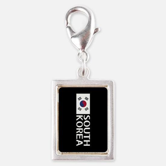South Korea: South Korean Fl Silver Portrait Charm