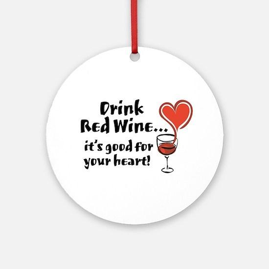 Rede Wine Ornament (Round)