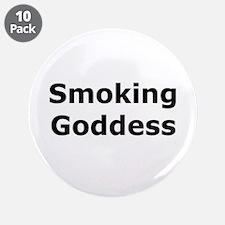 """Smoking Goddess 3.5"""" Button (10 pack)"""