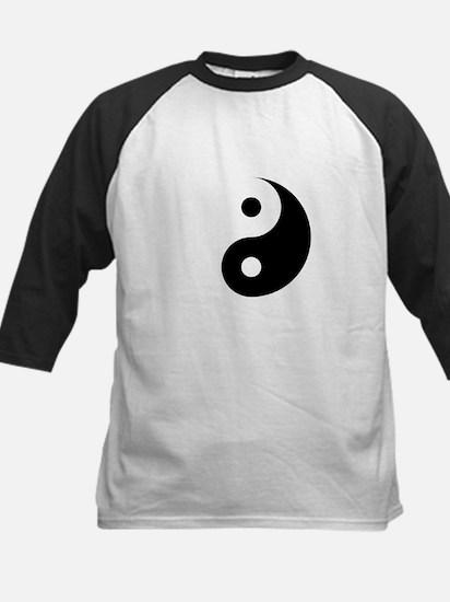 Minimalist Yin Yang Symbol Baseball Jersey