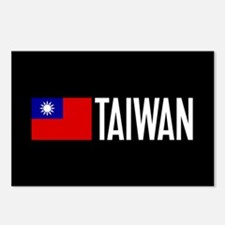 Taiwan: Taiwanese Flag & Postcards (Package of 8)