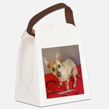 Unique Chihuahua mom Canvas Lunch Bag
