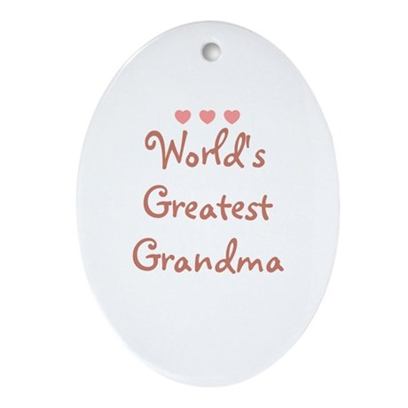 World's Greatest Grandma Oval Ornament