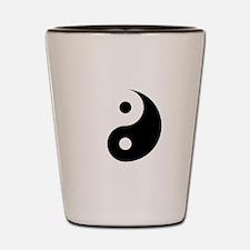 Minimalist Yin Yang Symbol Shot Glass