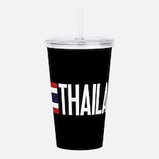 Thailand: Thai Flag & Acrylic Double-wall Tumbler