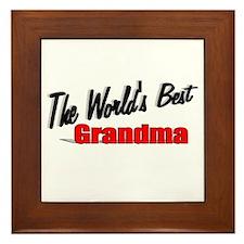 """""""The World's Best Grandma"""" Framed Tile"""