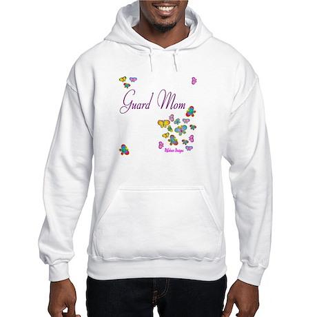 Guard Mom Butterflies Hooded Sweatshirt