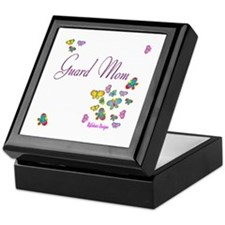Guard Mom Butterflies Keepsake Box