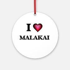I love Malakai Round Ornament