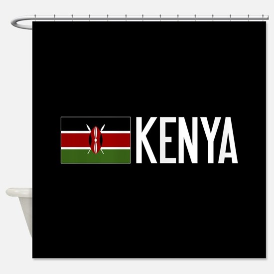 kenya kenyan flag kenya shower curtain
