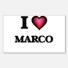 I love Marco Decal