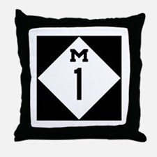 Michigan M1 Woodward Ave Throw Pillow