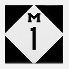 Michigan M1 Woodward Ave Tile Coaster