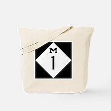 Michigan M1 Woodward Ave Tote Bag