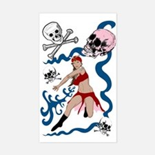 Pirate Pin-Up Rectangle Decal