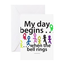 My day begins . . . Greeting Card