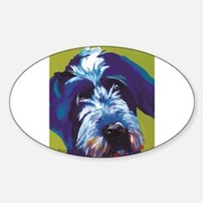 Blue and Lime Wire Haired G Decal