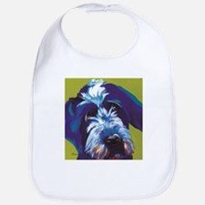 Blue and Lime Wire Haired Griffon Bib