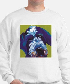 Blue and Lime Wire Haired Griffon Sweatshirt