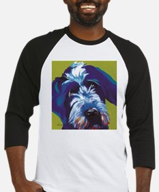Blue and Lime Wire Haired Griffon Baseball Jersey