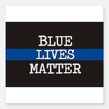 """Blue Lives Matter Square Car Magnet 3"""" x 3"""""""