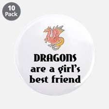 "Dragon Girl 3.5"" Button (10 pack)"