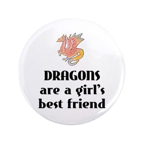 """Dragon Girl 3.5"""" Button"""