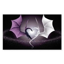 Dragon Love Rectangle Decal