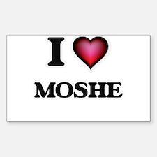 I love Moshe Decal