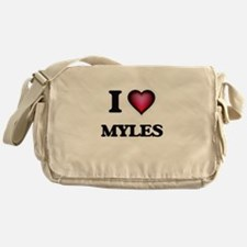 I love Myles Messenger Bag