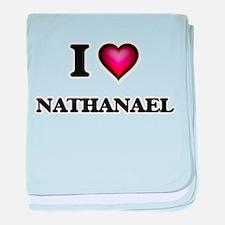 I love Nathanael baby blanket